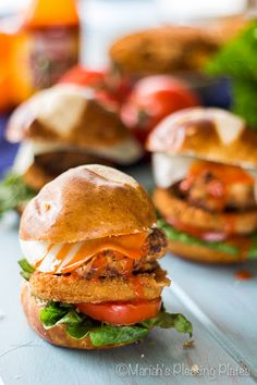 Fried Chicken Buffalo Pretzel Sliders Recipe on Yummly
