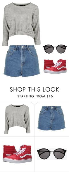 """Untitled #148"" by crissgab12 on Polyvore featuring Topshop, Vans and Yves Saint Laurent"