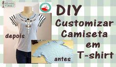 DIY- Customização de Camiseta Masculina em T-Shirt
