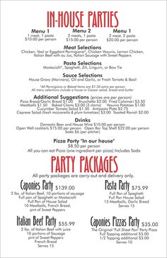 Catering Menu Ideas  Catering Recipes Catering Menu And Catering