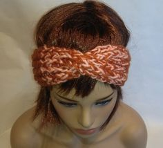 Headband Turban Brown by knittyshop on Etsy