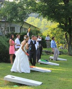 Lawn wedding Games. This would be a huge hit.