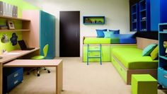 Cool twins bedroom idea