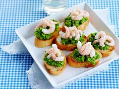 Shrimp and Pea Bruschetta, Appetizer, Finnish Easter Food, March 2016