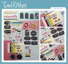 The Card Kitchen Kit Club - July 2014 Kit via Card Kitchen Kit Club blog