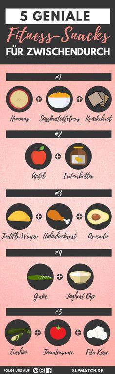 5 geniale Fitness-Snacks für zwischendurch, die dich fit halten, gesund sind und auch noch super lecker schmecken. Probier sie aus!