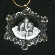Etched snowflake ornament with the whole family!