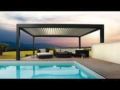 Biossun Bioclimatic Pergolas and Terrace Covers - Residential Installs - YouTube