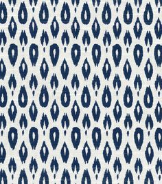 I kind of dig the stamped genitalia look. Nate Berkus Home Decor Print Fabric- Indre Lynwood Navy