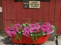 How to Turn an Old Clawfoot Bathtub into a New Outdoor Planter