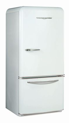 1950 White Northstar Refrigerator. Vintage fridge