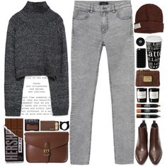 A fashion look from November 2015 featuring Zara sweaters, Monki and Forever 21 ankle booties. Browse and shop related looks.