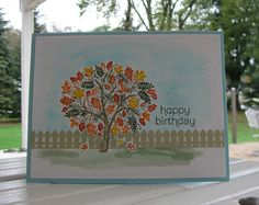 Watercolored Leaves of a Tree by Mayapple - Cards and Paper Crafts at Splitcoaststampers