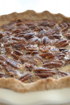 Paleo Pecan Pie: Best Pecan Pie Ever, NO gluten, no refined sugar, no dairy, and no soy! Gluten Free Sweets, Sugar Free Desserts, Sugar Free Recipes, Gluten Free Baking, Paleo Dessert, Healthy Desserts, Delicious Desserts, Dessert Recipes, Milk Recipes