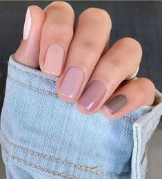 Classy Nails, Stylish Nails, Trendy Nails, Cute Short Nails, Elegant Nails, Neutral Nails, Nude Nails, Pink Nails, Girls Nails