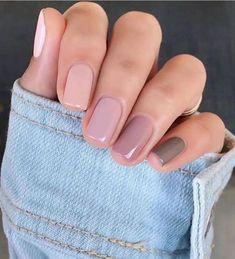 Classy Nails, Stylish Nails, Trendy Nails, Cute Short Nails, Elegant Nails, Nail Tattoo, Basic Nails, Simple Nails, Neutral Nails
