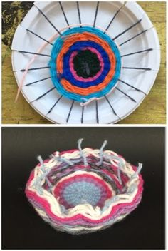 MeghCallie's Art Blog: Paper Plate Weaving-Make a Yarn Bowl!