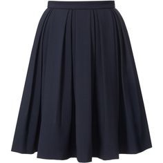 Orla Kiely Wool Blend Suiting Skirt ($310) ❤ liked on Polyvore featuring skirts, bottoms, saias, юбки, navy, blue pleated skirt, navy skirt, navy blue skirt, pleated skirt and blue skirt