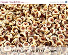 ON+SALE+50pcs+White+Travertine+Wheel+Beads+6mm+by+TheBestBeadsShop