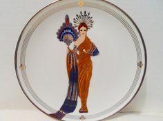 House of Erte Decorative Plate Titled by NowAndThenHomeDecor