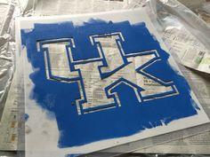 University of Kentucky Wildcats DIY // Stencil Designs // DIY Projects // Wall Stencils // Letter Stencils // Custom Stencils