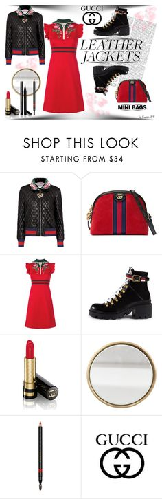 """""""GUCCI Leather Jackets"""" by emperormpf ❤ liked on Polyvore featuring Gucci and vintage"""
