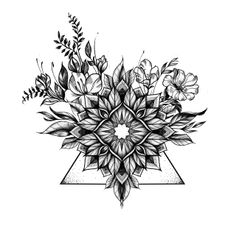 Miss Sita @ One O Nine tattoo Barcelona. floral geometric mandala dots work