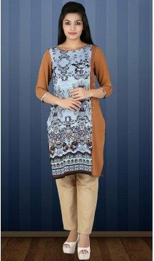 Brown Color Lycra Readymade Ladies Kurtas | FH482674404 #kurtis , #kurtas , #tunic , #top , #fashion , #clothing , #women , #heenastyle , #ladies , @heenastyle , #teenagers , #girls , #style , #mode , #mehendi
