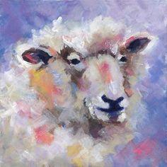 """""""Wise Woolly"""" - Original Fine Art for Sale - © Pamela Gatens"""