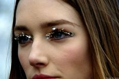 You don't need to be a fashion model to deck out your lashes in glitter check out Hard Candy Lash Tinsel Available at Walmart! http://www.walmart.com/ip/Hard-Candy-Lash-Tinsel-Mascara/12441204