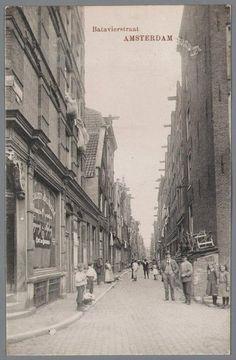 1906ca. Batavierstraat in de Amsterdamse jodenbuurt