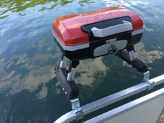 Cuisinart Grill for Pontoon Boat with Arnall's Grill Bracket Set