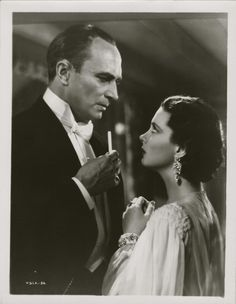 Conrad Veidt and Vivian Leigh in Dark Journey 1937