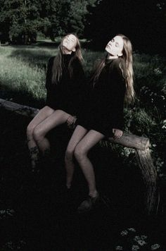 """Inka and Neele Hoeper in """"Sisters"""" by Lina Scheynius for Zeit July 2013"""