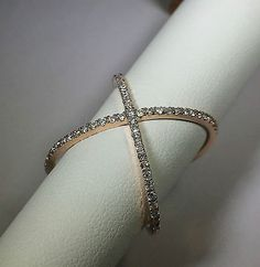 Criss-Cross-Ring-14k-Rose-Gold-with-0-50ct-of-natural-diamonds-Sizable