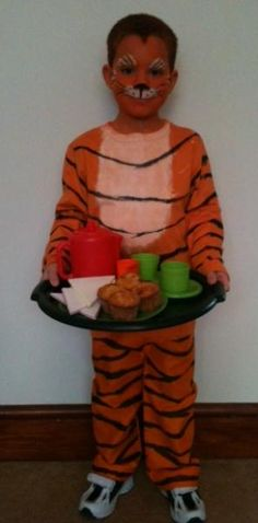 World book Day - The Tiger Who Came to Tea costume World Book Day Characters, World Book Day Outfits, Book Characters Dress Up, World Book Day Ideas, Book Character Costumes, World Book Day Costumes, Book Week Costume, Character Ideas, Dress Up Costumes