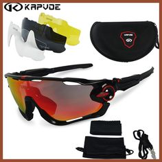 Kapvoe Polarized Cycling glasses Bicycle Running Fishing Sport Sunglasses bicicleta Gafas ciclismo Cycling Goggles Eyewear 4 Len