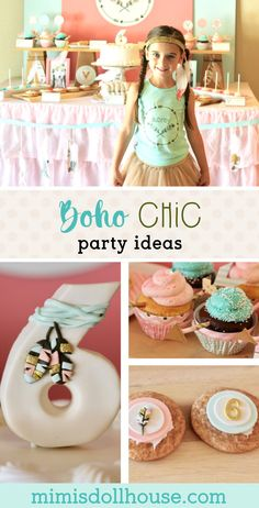 Celebrate your little one with bohemian arrows, gold and pretty mints and corals. This adorable Boho Chic birthday party is so fun and feminine. It is sure to be a hit with your little girl. Check out all the boho chic party details and ideas. Bohemian Birthday Party, Bohemian Party, Girls Birthday Party Themes, Girl Birthday, Birthday Parties, Birthday Ideas, Girl Parties, Birthday Decorations, Birthday Cake
