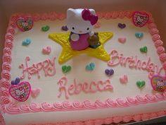 Hello Kitty Torte mit gekaufter Deko