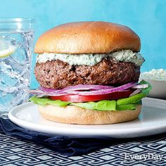 Lamb Burgers with Mint & Parsley Ranch Dressing