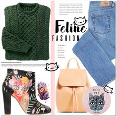 Purrfect Feline Fashion by asteroid467 on Polyvore featuring Camilla Elphick and Holika Holika