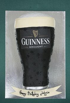Love to know how this was done - Guinness Ale Cake by Kathleen S DeCosmo Fun Cakes, Party Cakes, Cupcake Cakes, Gorgeous Cakes, Amazing Cakes, Guinness Cake, Guinness Draught, Family Cake, Cake Decorating