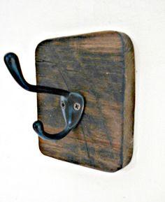 Single Coat Hook, Wall Towel Hook, Kitchen Towel holder, Wall Hook, Rustic Coat Rack, One Hook