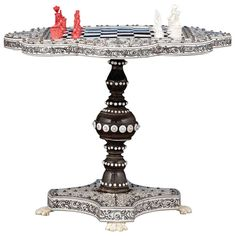 Anglo Indian Miniature Chess Table | From a unique collection of antique and modern games at http://www.1stdibs.com/more-furniture-collectibles/games/