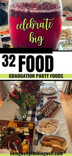 Have a graduation party to throw this year? Check out our hydration stations and graduation party food ideas for a buffet. These graduation party food ideas feeding a crowd will be fun and affordable. Graduation Party Desserts, Outdoor Graduation Parties, Graduation Party Planning, Graduation Party Themes, Party Food On A Budget, Party Food Buffet, Theme Ideas, Party Ideas, Feeding A Crowd