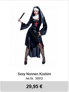 Holloween sexy Nonnen Kostüm Kai, Halloween Kleidung, Halloween Outfits, Darth Vader, Sexy, Fictional Characters, Nun, Fantasy Characters, Chicken