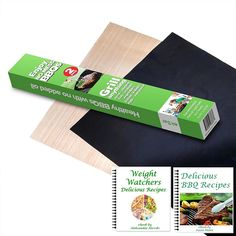 ekSel Grill Oven BBQ Mats and Baking Sheet Cooking Liner Woven Fiberglass Reusable Non Stick 1 Black and 1 Beige