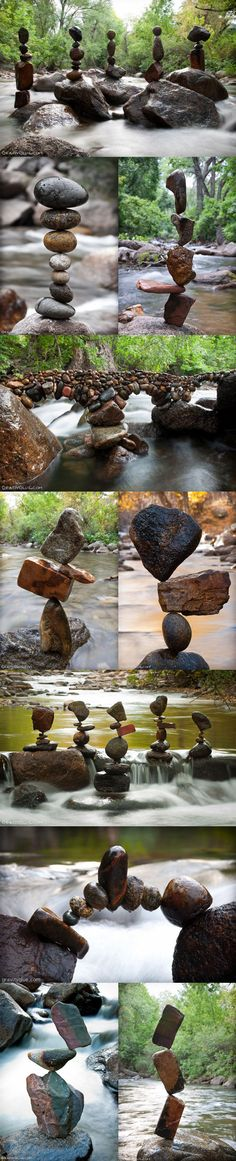 Impossibly stacked stones.