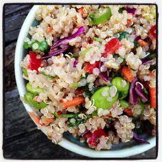 Plant-Based Nutritarian Weight Loss Recipe - Crunchy Thai Quinoa Salad