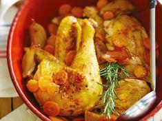 Poulet fermier oignons carottes - Recettes